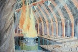 Painting depicting the Healing Flames in the Conclave book