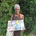 Deborah with her collage